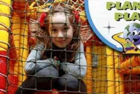 Planet Play - Four Family Visits to Soft Play Area With Kids Meals - Save 58%