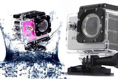 HK J and Y International Trading - Waterproof HD1080P Camera Available in silver or pink - Save 80%