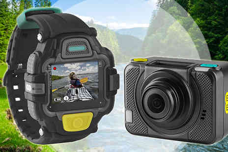 Scan Computers - Unlocked EE 4G Action Camera Plus View Finder Watch - Save 77%
