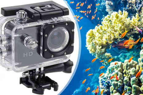 Eskkay - HD Sports Waterproof Action Cam With Accessories - Save 81%