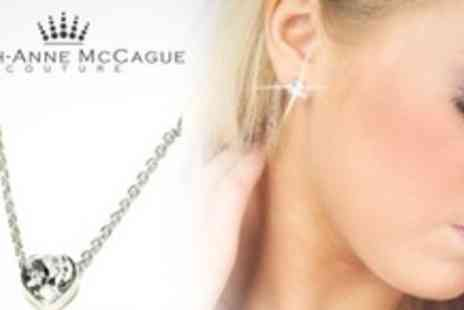 Leigh Anne McCague Couture - One Sets of Heart Necklace and Earrings Made With Swarovski Elements - Save 67%