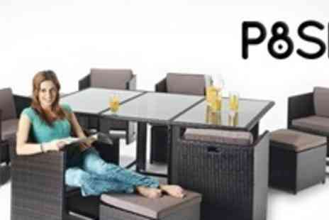 P8SH.co.uk - Rattan Two Seat Cube Sets - Save 87%