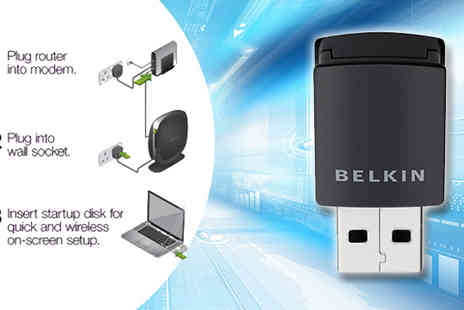 Pacetech - Belkin Surf & Wireless WiFi Dongle - Save 52%