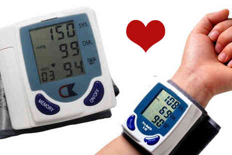 Gagala - Electronic Wrist Blood Pressure Monitor - Save 68%