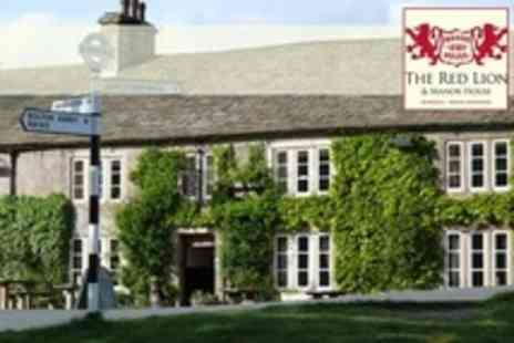 The Red Lion and Manor House - In Yorkshire Dales Overnight Stay For Two With Breakfast - Save 49%