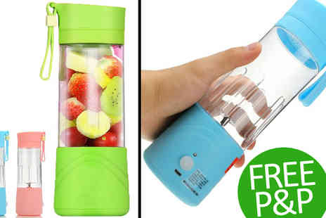 Transformational Capital - Green Portable Rechargeable Blender - Save 31%