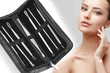 A2B Shopping - 7 Piece Blemish and Blackhead Remover Tool Kit - Save 83%