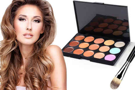 AthenaFashion - 15 Colour Contour Palette And Brush - Save 75%