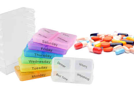 Shop Monk - Multi Coloured Weekday Pill Box - Save 40%