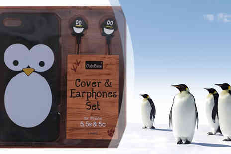 Affinity International - Owl iPhone 5 or 5s Case with Matching Earphones - Save 80%