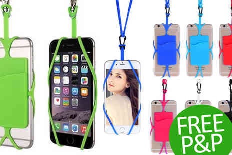 Emyub - Smartphone Lanyard with Card Slot for Any Phone Up to 6 inch - Save 47%