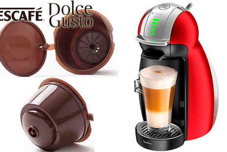 Ugoagogo - 2x Refillable Reusable Compatible Coffee Capsules Pods for Dolce Gusto Machines - Save 50%