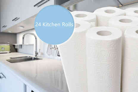 HK J and Y International Trading - 24 Rolls of Kitchen Roll - Save 76%
