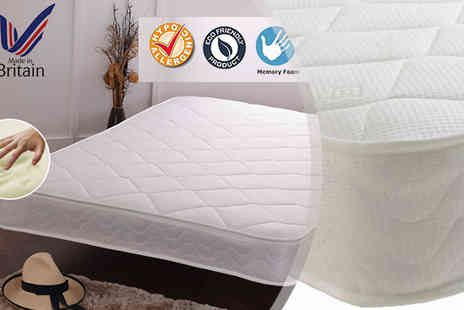 Sir Sleep A Lot - 3ft Single Hypoallergenic Memory Foam Sprung Mattress - Save 89%