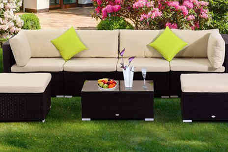 Mhstar - Outsunny 7PC Garden Rattan Furniture Set - Save 8%