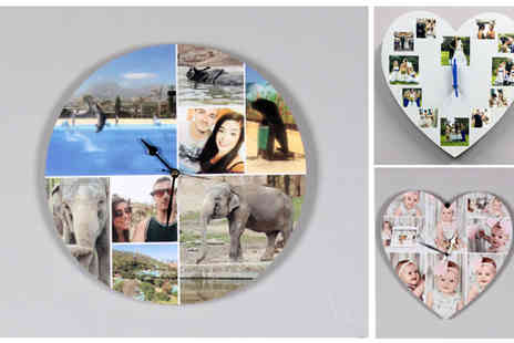 Yourperfectcanvas - Choice of Personalized Photo Clock - Save 78%