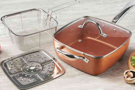Gablemere - 6 in 1 Square Copper Pan - Save 46%