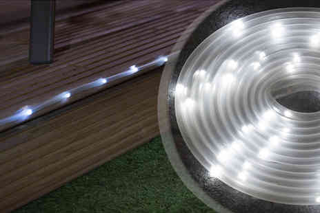 RS Communications - 5M Solar Powered 50 LED Garden Tube Light - Save 60%