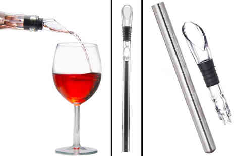 Snap One Up - 1 x Wine Chiller & Pourer - Save 65%