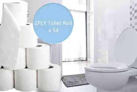 HK J and Y International Trading - Two Ply Toilet Roll x 54 - Save 67%