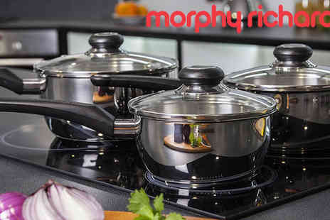Giddy Aunt - Steel Morphy Richards 3pce Pan Sets - Save 60%