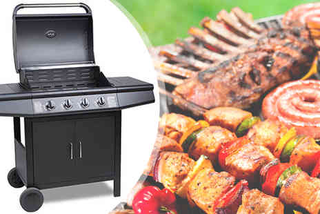 EVRE - Black FirePlus 4 plus 0 Gas Burner Grill BBQ Barbecue - Save 63%