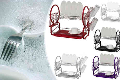 Snap One Up - Two Tier Dish Drainer - Save 60%