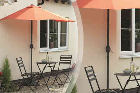 Gablemere - Vented Half Balcony Parasol And Base - Save 27%
