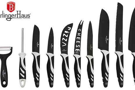 HK J and Y International Trading - Black and White BerlingerHaus Blaumann Ceramic 10 Piece Knife Set - Save 72%