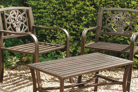 Gablemere - Coalbrookdale Pk of 2 Garden Arm Chairs - Save 59%