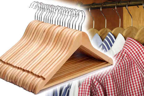 Zenith Wholesale - 10 Wooden Hangers - Save 68%