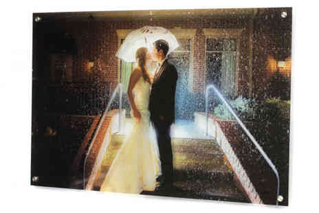 Yourperfectcanvas - 12 inch x 8 inch Personalised Acrylic Glass Canvas - Save 78%