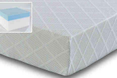 One Holding - 3FT Single CoolBlue Advance Memory Foam Mattress plus 1 Pillow - Save 66%