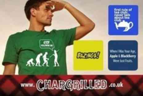 CharGrilled - Four Comedy and Retro Slogan T Shirts - Save 58%