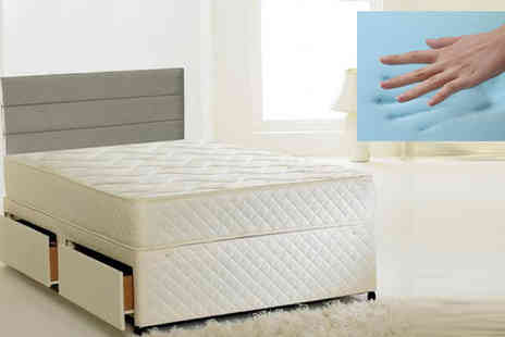 Sir Sleep A Lot - 2ft6 Andrea Quilted Cool Blue Sprung Mattress - Save 84%