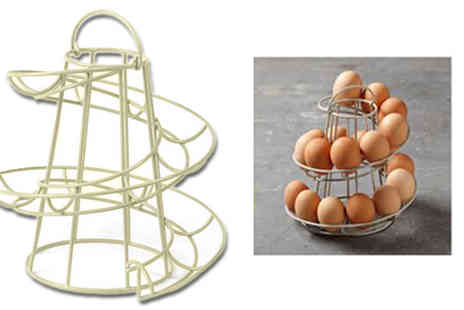 Plus Bee - Helter Skelter Spiral Egg Holder - Save 88%