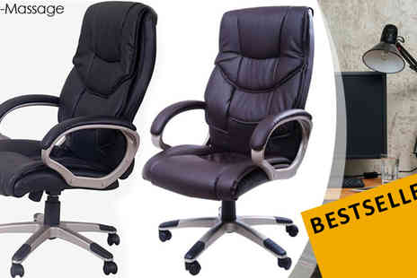 MHStar Uk - Homcom High Backed PU Leather Office Chair Black - Save 10%