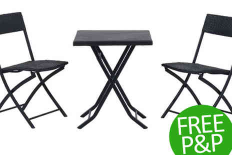 MHStar Uk - Rattan Garden Furniture Bistro Set plus Free P&P - Save 25%