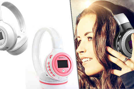 Boom Deals - Wireless Stereo Bluetooth Headset Available in 3 Colours - Save 91%