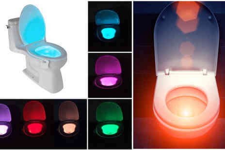 Snap One Up - LED Motion Activated Toilet Night Lights - Save 65%