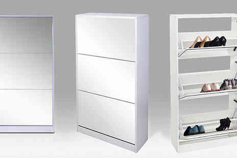 lolbargain - Three Drawer Mirrored Shoe Cabinet - Save 76%
