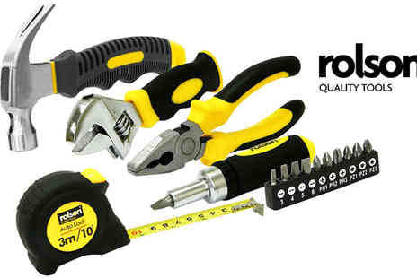 M&M Deals - Rolson 15pc Home Tool Kit - Save 45%