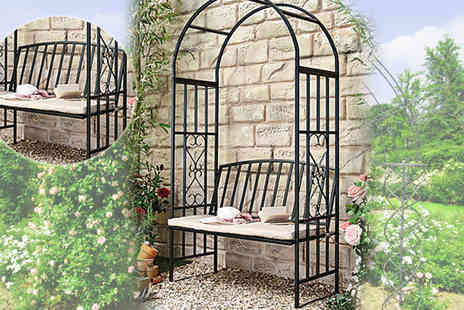Gablemere - Huntingdon Arch and Bench with Cushion - Save 47%