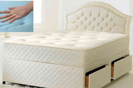 Sir Sleep A Lot - 2ft6 Andrea Tufted Cool Blue Sprung Mattress - Save 84%