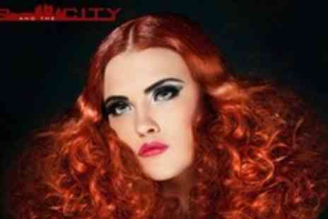Hair and the City - Half Head Highlights or Full Head Colour Plus Conditioning Treatment, Cut, and Blow Dry - Save 65%