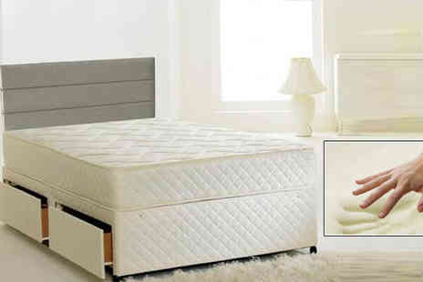 Sir Sleep A Lot - 2ft6 Andrea Quilted Memory Sprung Mattress - Save 85%