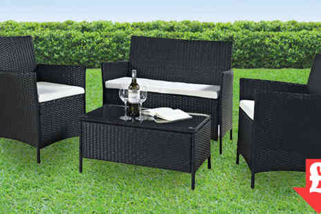 Evre - Price drop this weekend only Madrid Black Rattan Furniture Set - Save 86%
