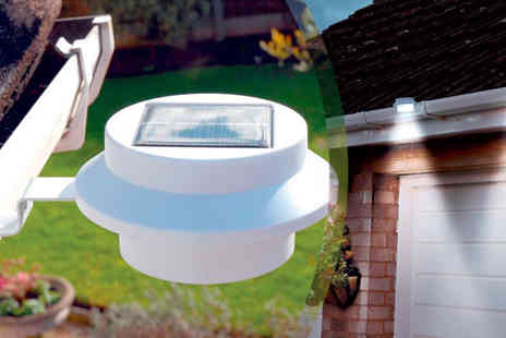 Gablemere - Pack of Two White Solar Gutter Lights - Save 48%