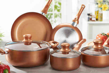 Gablemere - Eight piece Copper Pan Set - Save 50%