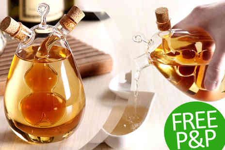 Transformational Capital - Oil and Vinegar Dual Pourer Bottle - Save 44%